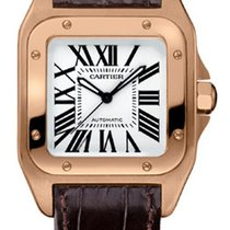 Cartier Santos 100 18K Rose Gold Ladies Watch