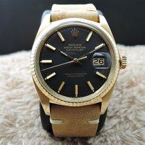 Rolex DATEJUST 1601 18K YG with Original Matte Black Dial