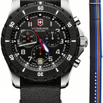 Victorinox Swiss Army Maverick Sport Quartz Chrono Steel Mens...
