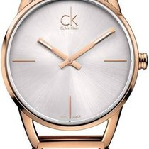 ck Calvin Klein Damenuhr Stately K3G23626