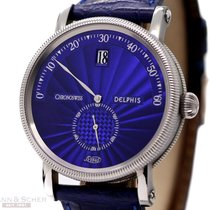Chronoswiss Delphis Blue Dial Ref-CH1423 Jump Hour Retrograde...