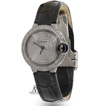 Cartier Ballon Bleu Silver Diamond Dial Stainless Steel Ladies...