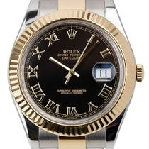 Rolex Datejust II Steel and Yellow Gold Black/Roman Oyster...