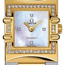 Omega NEW: Constellation  Quadra 18 k solid gold, diamonds, mop