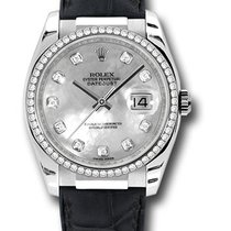 Rolex Oyster 116189 Datejust 18K White Gold & Diamonds Watch