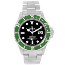 Rolex Submariner Kermit Green 50th Anniversary Mens Watch 16610lv