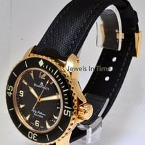 Blancpain Fifty Fathoms 18k Rose Gold Mens Automatic Dive...