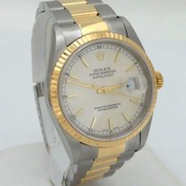Rolex Mens 2001 Rolex Oyster Perpetual Datejust Two Tone 18k...