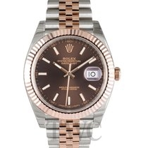ロレックス (Rolex) Datejust 41 Chocolate/Rose gold 41mm - 126331