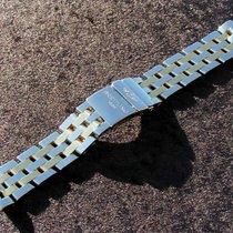 Breitling 20mm Chronomat Pilot Band Steel Gold Np 3.190 Euro...