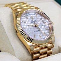 Rolex President Day-date 228238 18k Yellow Gold Silver Motif...