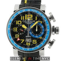 Graham Silverstone Stowe GMT Chronograph Steel 48mm Blue &...