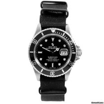Rolex SS 16610 Submariner  Black Dial w/ Nato Strap