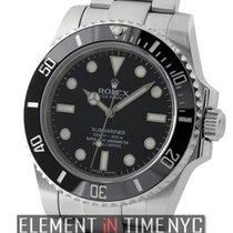 Rolex Submariner No-Date Ceramic Stainless Steel Black Dial
