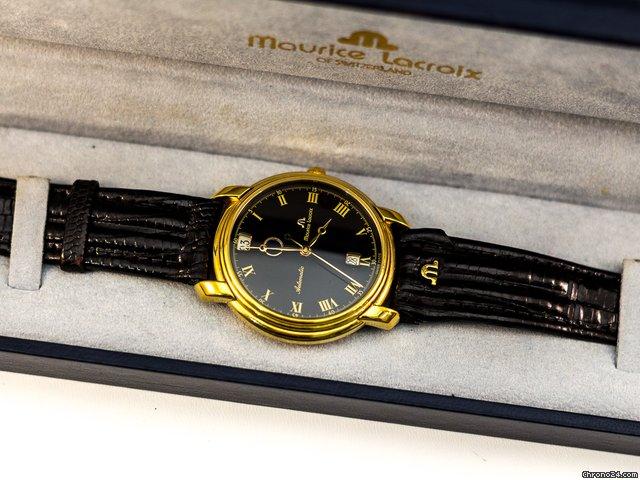 maurice lacroix gold automatic herrenuhr tag nacht anzeige f r 999 kaufen von einem. Black Bedroom Furniture Sets. Home Design Ideas