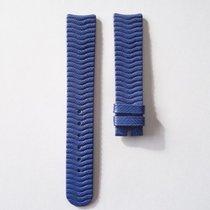 Ebel Lederarmband blau 18 mm ohne Dornschliesse