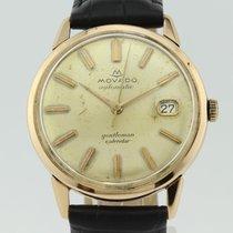 Movado Vintage Gentleman Calendar Calibre 538 Automatic 18k Gold