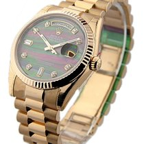 Rolex Unworn 118235_blk_mop_dd Rose Gold Mens President Day -...