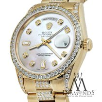 Rolex Presidential 36mm Day Date Tone White Dial Diamond Watch...