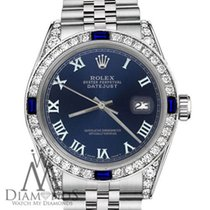 Rolex 36mm Datejust Navy Blue Roman Numeral Dial With Sapphire...