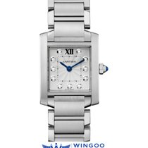 卡地亚 (Cartier) TANK FRANCAISE STEEL 11 DIAMONDS Ref. WE110006
