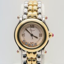 Chopard Happy Sport 18k Gold Steel Five Diamonds
