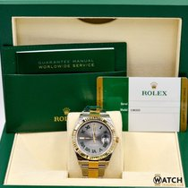 Rolex Datejust 126333 2T  18K YG Silver/Green Roman Dial