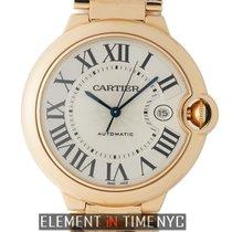 Cartier Ballon Bleu Collection 18 Karat Rose Gold Silver Dial...