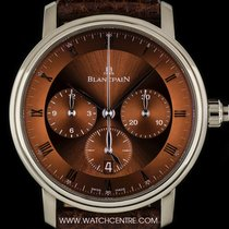 Blancpain 18k White Gold Single Pusher Villeret Chrono...