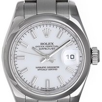 Rolex Datejust Ladies Stainless Steel Watch 179160 White Dial