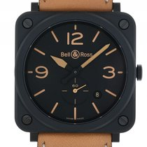 Bell & Ross Aviation BR S Heritage Black Keramik Quarz...