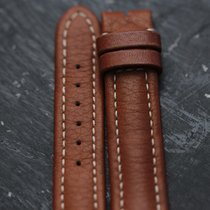 Breitling Leather Strap  Length: 18 cm Width: 15 mm