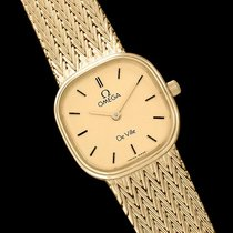 Omega De Ville Ladies Bracelet Dress Quartz Watch - 18K Gold...