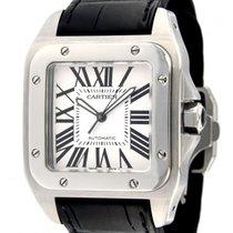 Cartier Santos 100 2656 Steel, Leather