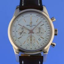 Breitling Rose Gold Transocean 43mm Chronograph