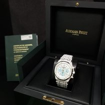 Audemars Piguet Royal Oak Chronograph White Gold Legacy Pave Dial
