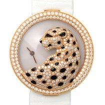 Cartier Bestiaire 18 K Rose Gold With Diamonds White Quartz...