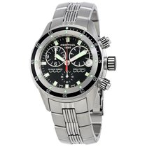 Certina DS Blue Ribbon Black Dial Men's Chronograph Steel...
