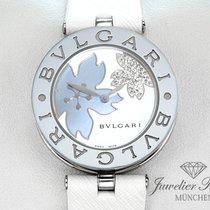 Bulgari B Zero 1 Stahl Diamanten Perlmutt BZ 30 S