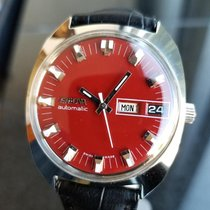 Enicar Vintage Automatic 1968 34.5mm Red Mens Stainless...