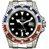 Rolex GMT Master II 18K Solid White Gold Diamonds