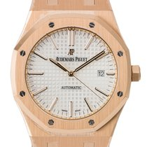 Audemars Piguet Royal Oak 41mm Rose Gold Leather Strap...
