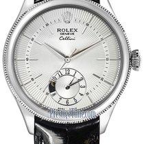 Rolex Cellini Dual Time 39mm 50529 Silver