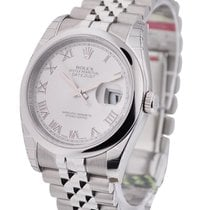 Rolex Unworn 116200 Datejust 36mm in Steel with Domed Bezel -...