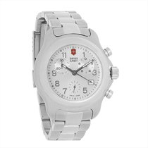 Victorinox Swiss Army Officers Mens Silver Swiss Chronograph...