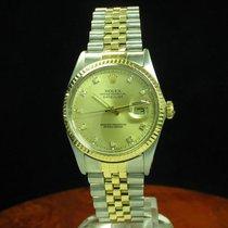 Rolex Datejust 18kt 750 Gold Edelstahl Automatic Diamant...