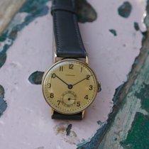 Longines vintage 14k solid gold 'calatrava' 27.o...