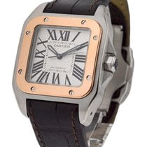 Cartier W20107X7 Santos 100 2-Tone - Small Size in 2-Tone -...