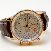 Breitling Navitimer World Rose Gold Limited Edition Mens Wat