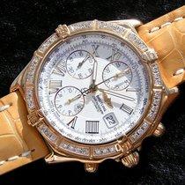 Breitling Crosswind In 750 18k Gold Weisses Zifferblatt K13055...